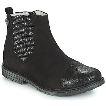 Chaussures Fille Boots GBB LEONTINA Noir