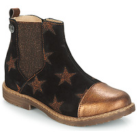 Chaussures Fille Boots GBB LEONTINA Noir / Cuivre