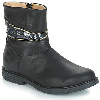 Chaussures Fille Bottes ville GBB MAFALDA Noir