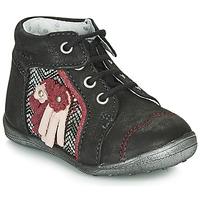 Chaussures Fille Boots Catimini RAINETTE CTV NOIR-ARGENT DPF/GLUCK