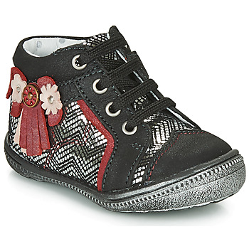 Chaussures Fille Boots Catimini RHUBARBE CTV NOIR-ARGENT DPF/2852