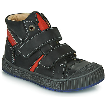 Chaussures Garçon Boots Catimini RAIFORT VTE NOIR-ROUGE DPF/LINUX