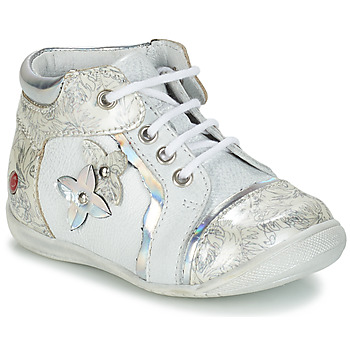 Chaussures Fille Boots GBB SONIA Blanc / Argenté