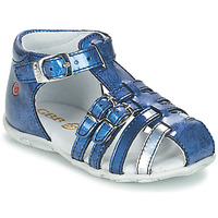 Chaussures Fille Sandales et Nu-pieds GBB SAMIRA VVN BLEU-IMPRIME DPF/ZABOU