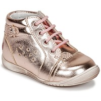 Chaussures Fille Baskets montantes GBB SIDONIE Rose / Or
