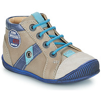 Chaussures Garçon Boots GBB SILVIO VTC TAUPE-BLEU DPF/RAIZA