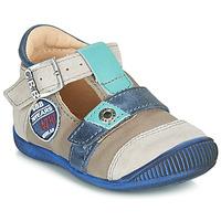 Chaussures Garçon Sandales et Nu-pieds GBB STANISLAS VTC TAUPE-BLEU DPF/RAIZA