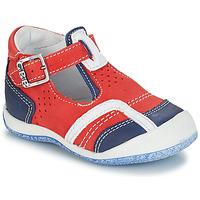Chaussures Garçon Boots GBB SIGMUND NUV ROUGE-MARINE DPF/MILK