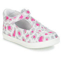 Chaussures Fille Ballerines / babies GBB SABRINA Gris / Rose / Blanc