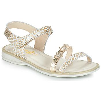 Chaussures Fille Sandales et Nu-pieds GBB SWAN Blanc / Doré