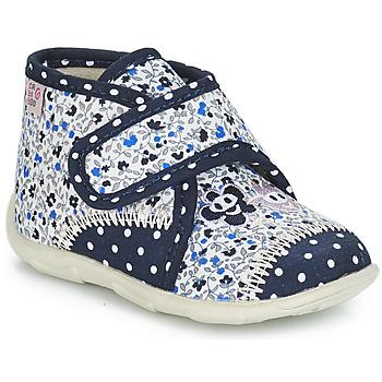 Chaussures Fille Chaussons GBB PASCALINE Bleu / Blanc