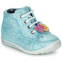 Chaussures Fille Boots Catimini SALAMANDRE VTE CIEL-ARGENT DPF/GLUCK