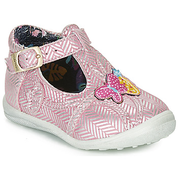Chaussures Fille Boots Catimini SOLEIL VTE ROSE-ARGENT DPF/GLUCK