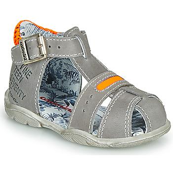 Chaussures Garçon Sandales et Nu-pieds Catimini SPHINX NUS GRIS-ORANGE FLUO DPF/FILOU