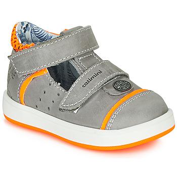 Chaussures Garçon Sandales et Nu-pieds Catimini SAUTERIAU Gris / Orange