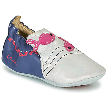 Chaussures Fille Chaussons Catimini SIRENE VTE MARINE-BLANC DPF/SOUPLE