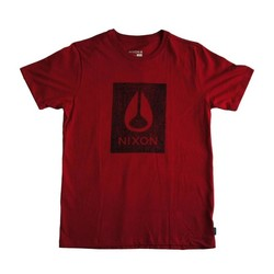 Vêtements Homme T-shirts manches courtes Nixon T-shirt  Knockout - Red / Black Rouge