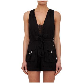Vêtements Femme Combinaisons / Salopettes Guess Combishort Poches Cargo Noir (sp) 38