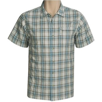 Vêtements Homme Chemises manches courtes Columbia Chemise North Side Canal II Blanc