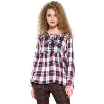 Vêtements Femme Tops / Blouses Desigual T Shirt Blouse Matilda Purple Violet 17WWBW68 15
