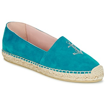 Chaussures Femme Espadrilles Pretty Ballerinas ANGELIS Turquoise