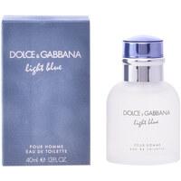 Beauté Homme Eau de toilette D&G Light Blue Pour Homme Edt Vaporisateur  40 ml
