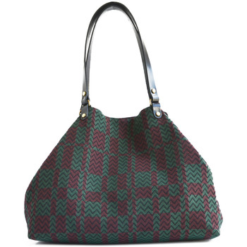 Sacs Femme Cabas / Sacs shopping Paulette Et Simone Grand cabas en toile jacquard JACQUARD PRUNE Femme Collection A Bordeaux