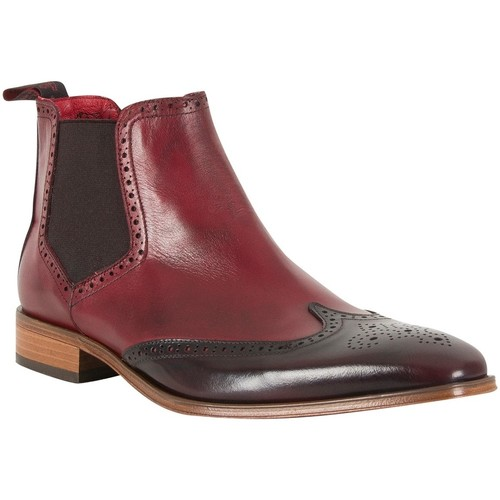 Jeffery West Homme Chaussures polies, Rouge