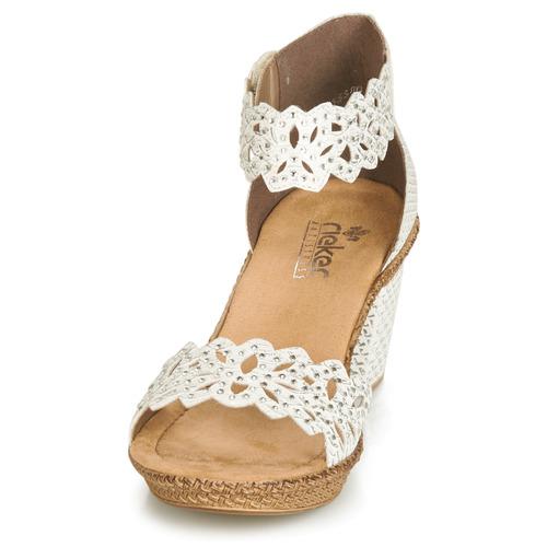 pieds Blanc Sandales Et Nu Rieker Belalier Chaussures Femme K1Jc3lTF