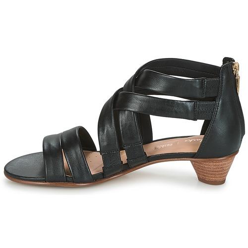 Silk Mena Sandales Clarks Et pieds Nu Femme Noir rxeCoQBdWE