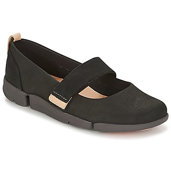 Chaussures Femme Ballerines / babies Clarks TRI CARRIE Noir