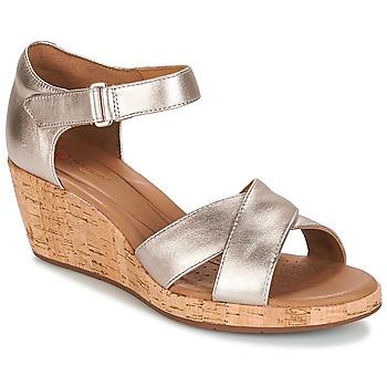 Chaussures Femme Sandales et Nu-pieds Clarks UN PLAZA CROSS Doré