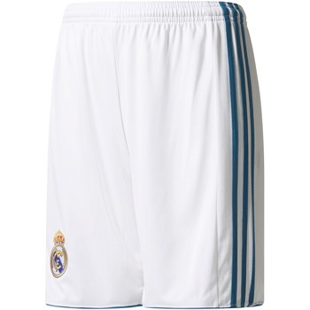 Vêtements Garçon Shorts / Bermudas adidas Originals Short junior Domicile Real Madrid 2017/2018-13/14 ans blanc/bleu