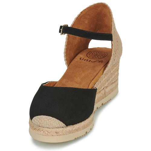Nu Noir Et Unisa Sandales Cisca pieds Femme 0mv8wONn