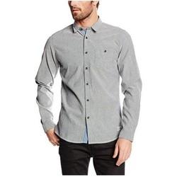Vêtements Homme Chemises manches longues !solid SANDEEP Gris