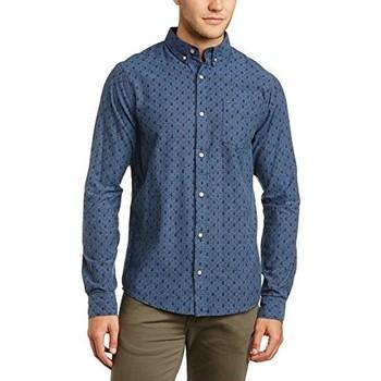 Vêtements Homme Chemises manches longues !solid KEN Bleu