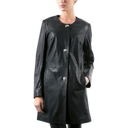 Vêtements Femme Vestes en cuir / synthétiques Giorgio Iolanda Plume Noir Noir