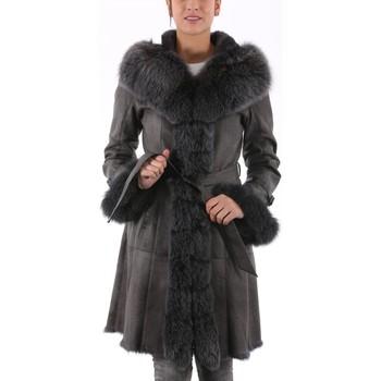Vêtements Femme Vestes en cuir / synthétiques Milpau AL 80-88 Anthracite Gris