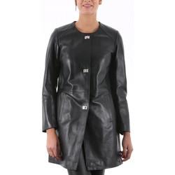 Vêtements Femme Vestes en cuir / synthétiques Giorgio Iolanda Waxy Noir Noir