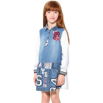 Vêtements Fille Robes courtes Desigual Robe El Aaiun Bleu Jeans 17WGVD05 Bleu