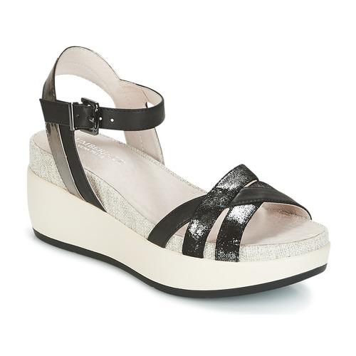 Chaussures Femme Sandales et Nu-pieds Lumberjack BLANCHE Noir / Argent