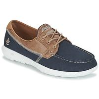 Chaussures Femme Chaussures bateau Skechers GO WALK LITE Marine