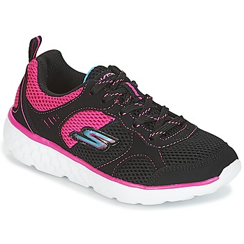 Chaussures Fille Baskets basses Skechers PEP KICKS Noir / Rose