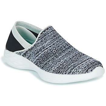 Chaussures Femme Slips on Skechers YOU Noir / Blanc