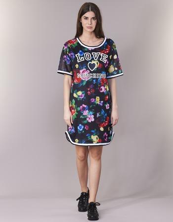 Moschino Courtes Femme NoirMulticolore Vêtements Robes Love W5a0302 K1JTlFc
