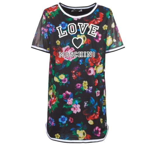 Vêtements Femme Robes courtes Love Moschino W5A0302 Noir / Multicolore