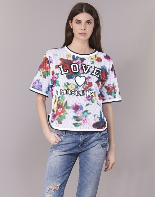 Vêtements Femme Tops / Blouses Love Moschino W4G2801 Blanc / Multicolore