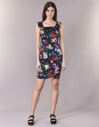-20%. Vêtements Femme Robes courtes Love Moschino WVG3100 Noir / Multicolore