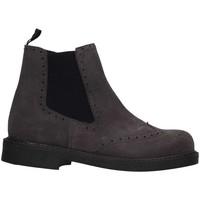 Chaussures Fille Bottines Eli 0102P Beatles Enfant Gris Gris