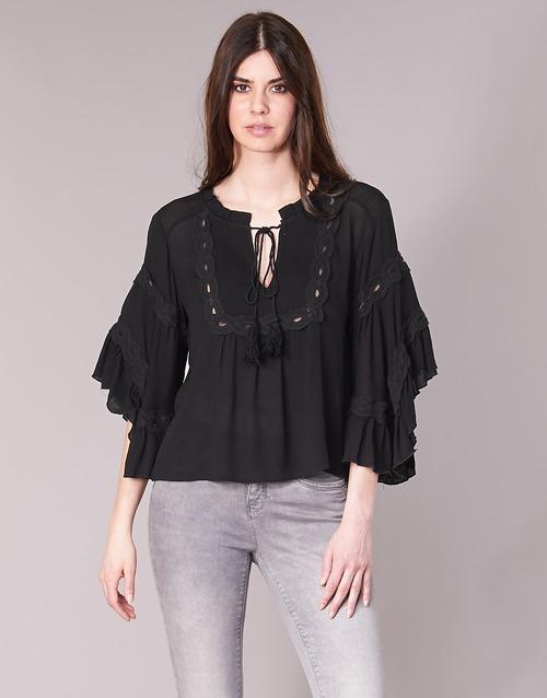 Vêtements Femme Tops / Blouses See U Soon 8112057 Noir